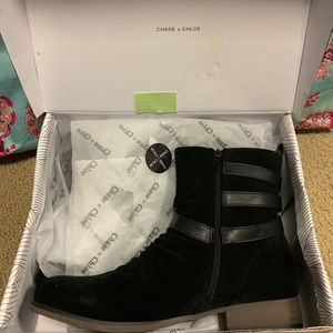 Chase + Chloe Shoes - New never worn suede combat booties! Size 9!